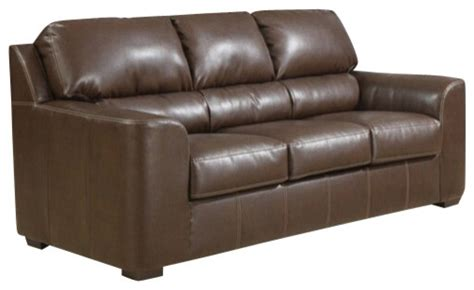 leather pull out couch andrew brown bonded leather upholstered queen pull out