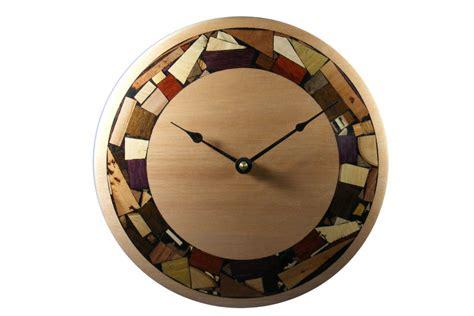 modern mosaic clock mosaic rimmed clock wooden wall clock