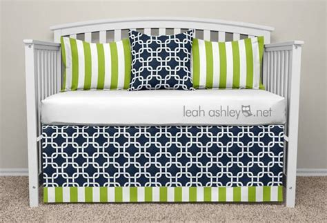 navy and green bedding crib bedding set collin8a navy lime green