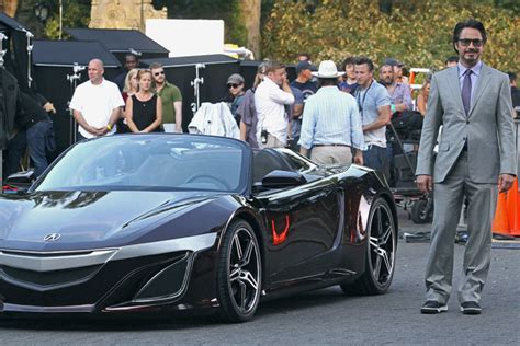 acura supercar avengers honda nsx roadster premiere in hollywood bilder