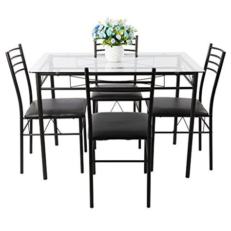 vecelo dining table with 4 chairs black vecelo dining table with 4 chairs black homegoodsreview
