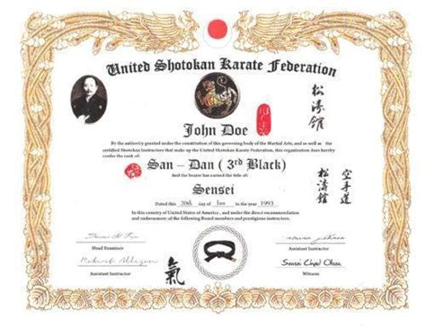 martial arts certificates martlocal