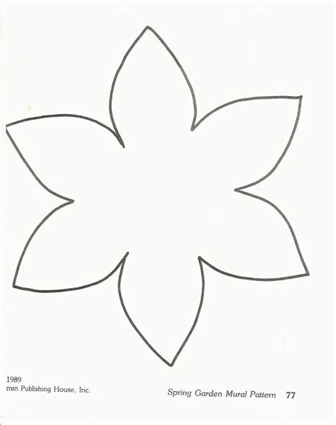 template of a daffodil preschool flower template image search results