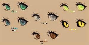 anime eye color eye color palette by kohlmeisen on deviantart