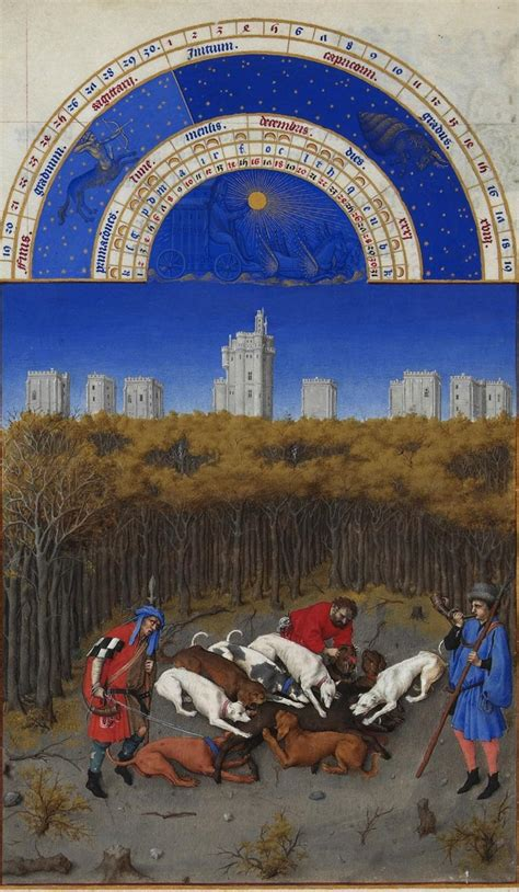 limbourg brothers beautiful illustrations  tres riches heures du berry