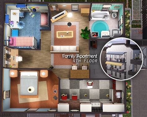 Floor Plan Creator mod the sims city life apartments
