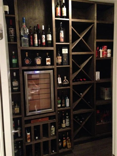 czar cigar bar cabinet humidor wine room pantry custom wineador wine fridge cigar