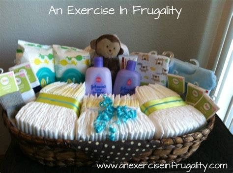 Baby Boy Shower Gift Ideas by Baby Shower Basket Gift Idea An Exercise In Frugality