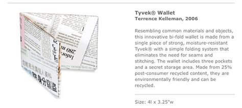 Tyvek Wallets From The Moma Store by Moma Store Designboom