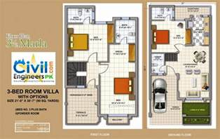 3 Marla House Plans Civil Engineers Pk Floor Plans For 5 Marla House