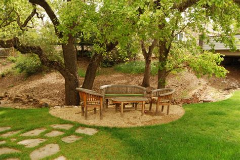 Trees For Backyard Landscaping by Oak Tree Retreat Landscape San