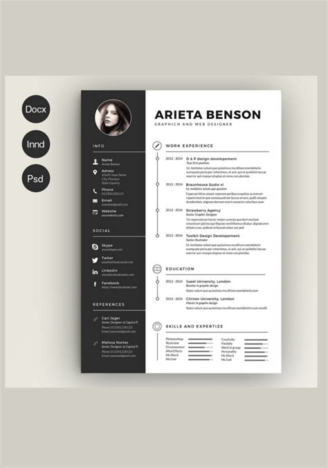 free creative resume template photoshop 14 creative resume templates free word pdf design formats