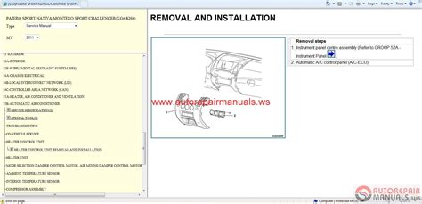car repair manual download 1988 mitsubishi pajero electronic toll collection mitsubishi pajero sport 2011 service manual auto repair manual forum heavy equipment forums
