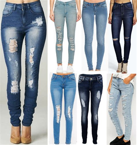 light ripped jeans womens womens ripped knee cut jeans faded slim fit ladies skinny