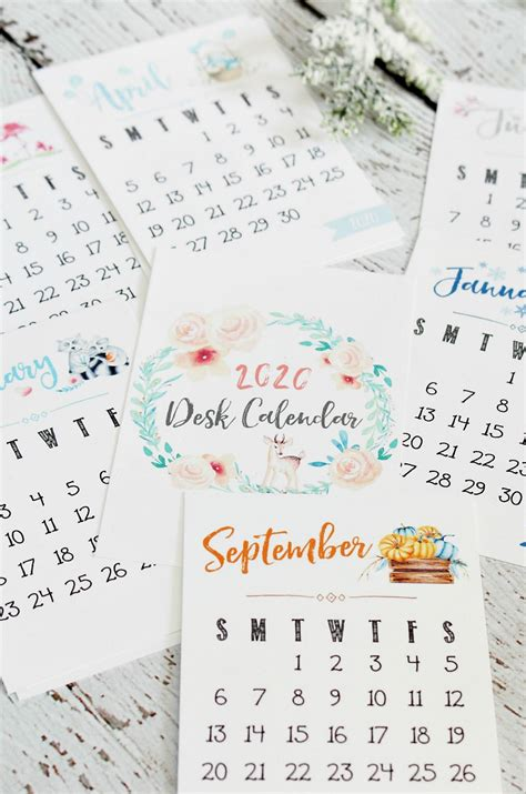 printable  calendar clean  scentsible