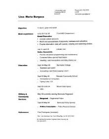 copy and paste resume templates resume format resume sles to copy and paste