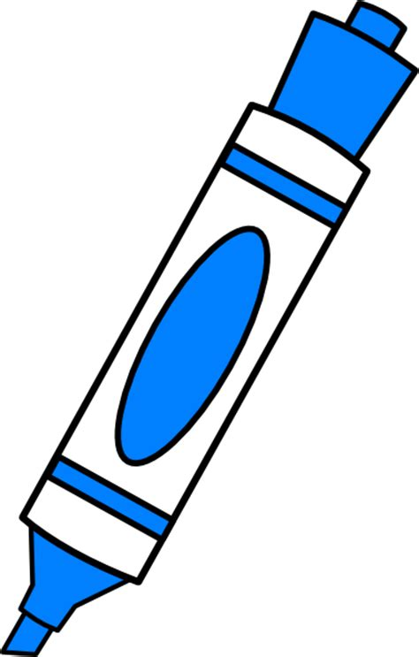 kc colors blue color marker clip at clker vector clip