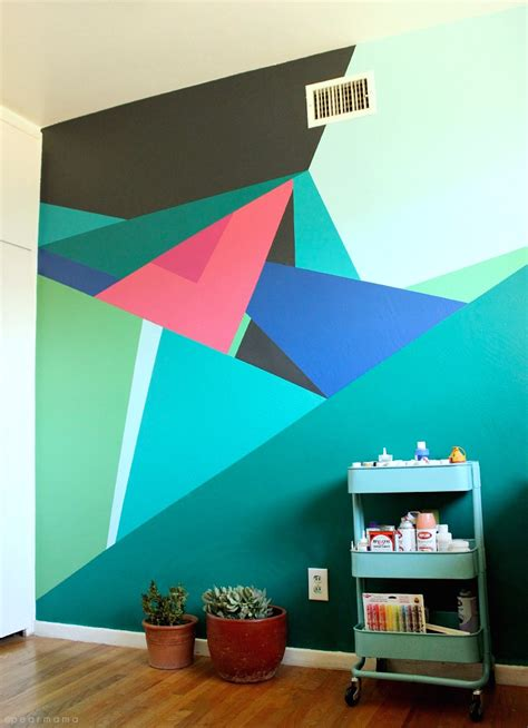 designer paint para quem gosta de triangulos tapemania geometric wall geometric wall and