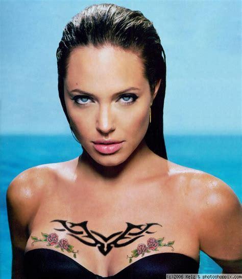 angelina jolie m tattoo hot wallpaper angelina jolie tattoos
