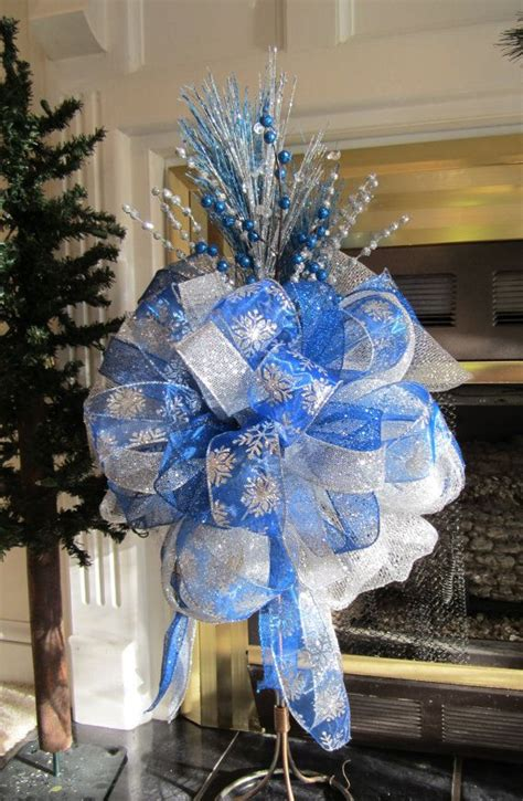 blue christmas tree bows best 25 mesh tree ideas on
