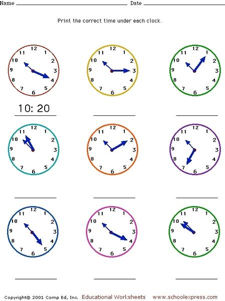 clock worksheet nearest minute telling time to the minute worksheets worksheets for all