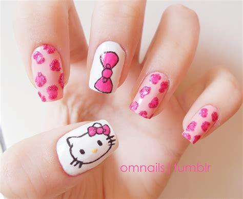 nail art tutorial hello kitty french tips 19 hello kitty nail art entertainmentmesh