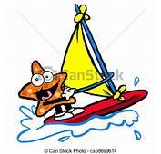 Cartoon Starfish Windsurfing  Clipart Panda Free