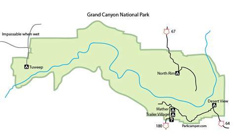 grand map national park grand national park cing