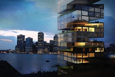Waterfront House Designs 14 new designs proposed for brooklyn bridge park project