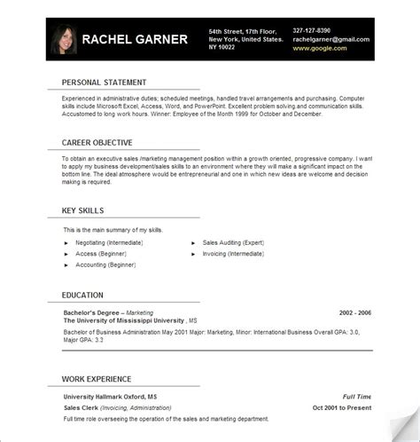 Resume Template For Openoffice 4 by Open Office Resume Template Fotolip Rich Image And