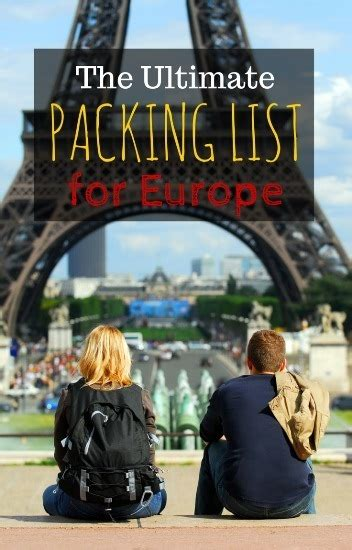 packing  europe  summer carry   packing list