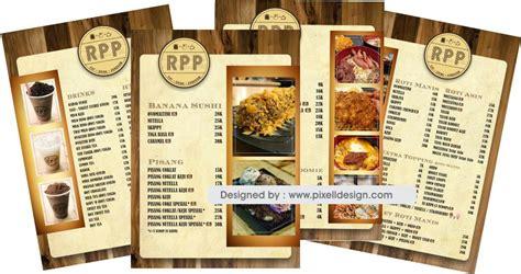 desain daftar menu minuman contoh desain buku menu makanan restourant cafe yang