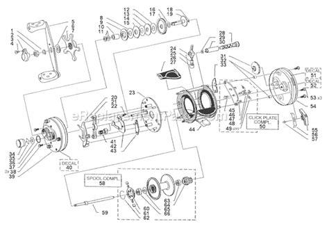 abu garcia reel parts diagram abu garcia 6601 cb parts list and diagram 09 01