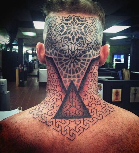 back neck tattoos for men back of and neck toroids sacred geometry for