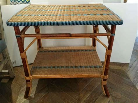 Rattan Table L Wicker Table At 1stdibs