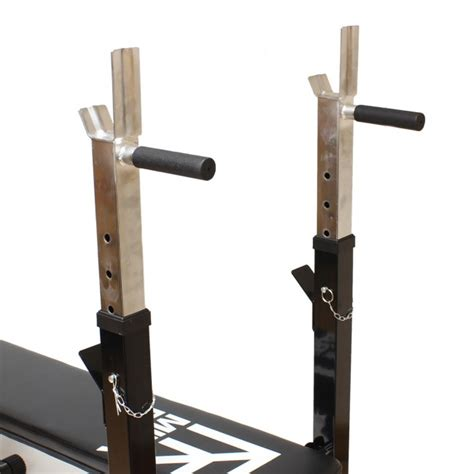 weight bench with dip station mirafit m1 folding weight bench with dip station