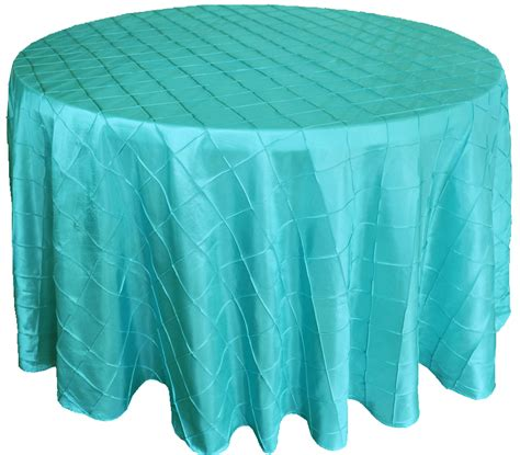 pool blue 108 quot pintuck taffeta tablecloths