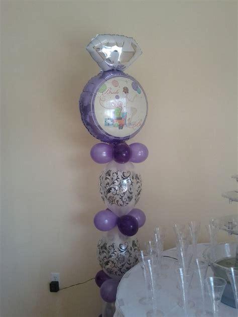 bridal shower balloon column balloon creations