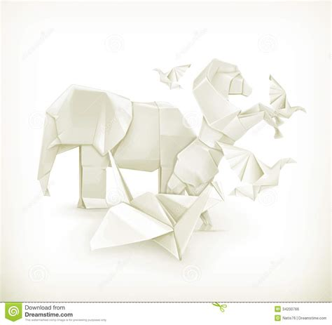 Origami Farm Animals - origami animals royalty free stock image image 34200766