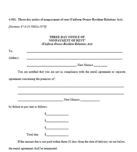 printable three day eviction notice 3 day eviction notice real estate forms