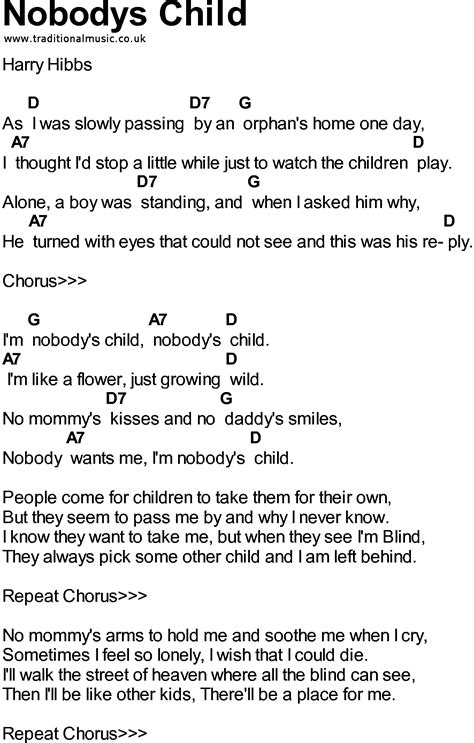 nobody s child song