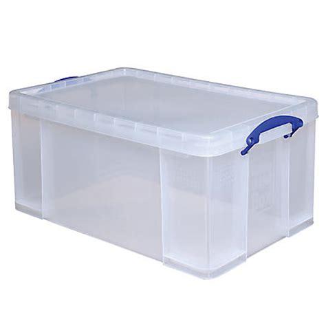 photo storage box really useful box plastic storage box 64 liters 28 x 17 516 x 12 14 clear by office depot