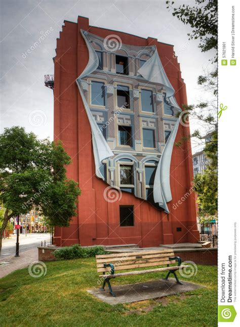 Skyline Wall Mural the flatiron building in toronto with trompe l oeil mural