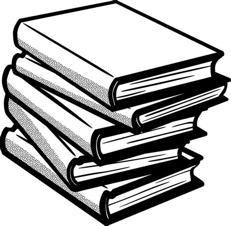 books clipart free vector graphic books reading library knowledge