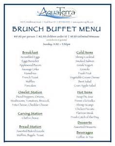 menu for brunch aquaterra grille in pearl river launches brunch buffet boozy burbs