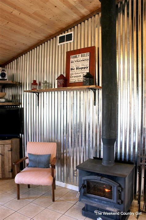 Dining Room Wall Panels by Remodelaholic Diy Corrugated Tin Wall Tutorial