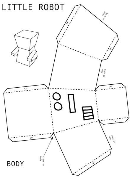 shape robot template robot activity maths on toast