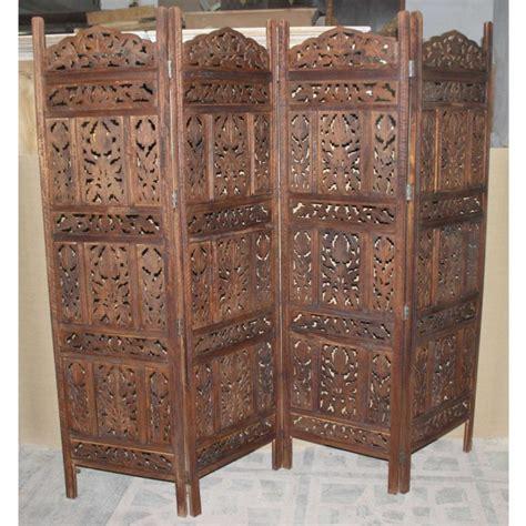 carved room divider carved indian partition screen room divider brown
