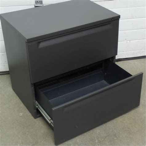 herman miller grey 2 drawer 30 in lateral file cabinet