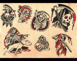 Grim reaper tattoo flash real photo pictures images and sketches